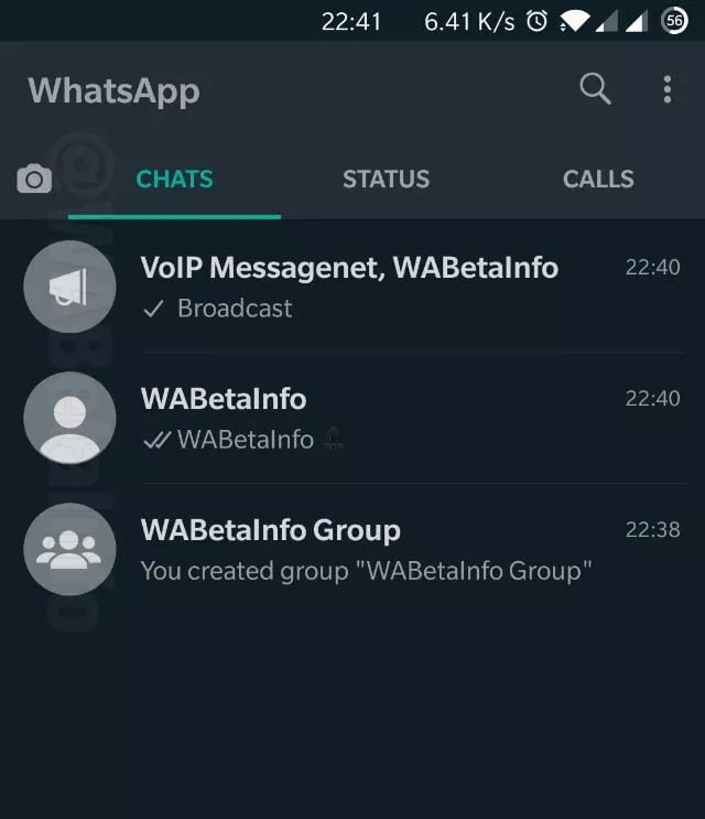 WhatsApp for Android gets a Dark Mode