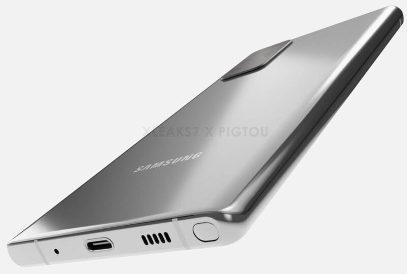 First look at the design of the Samsung Galaxy Note 20 CAD model