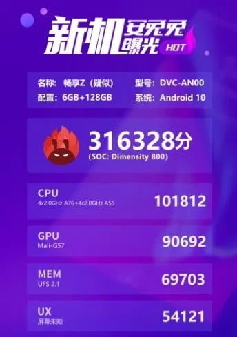 Huawei Enjoy Z 5G details are leaked - price, specs, features and release date