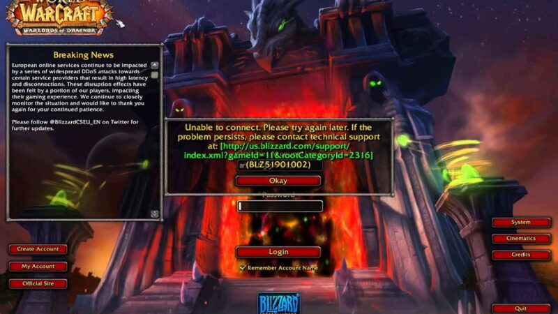 Blizzard servers suffer another DDoS attack in 2020: The issue in Battle.net is solved now