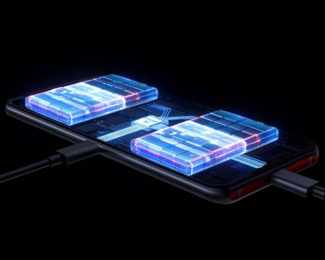 A gaming phone with 2 batteries and a side camera Lenovo Legion Phone Duel