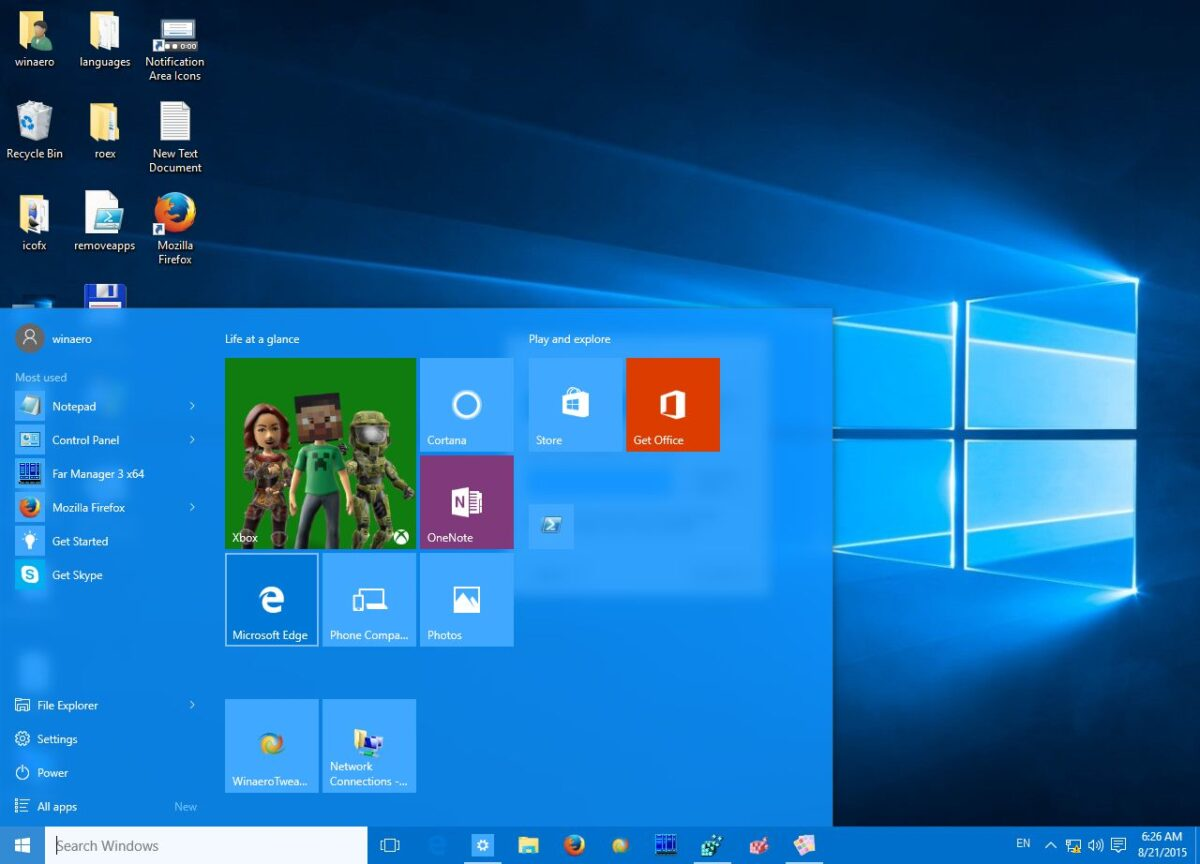 How to change Start menu and taskbar color in Windows 10?