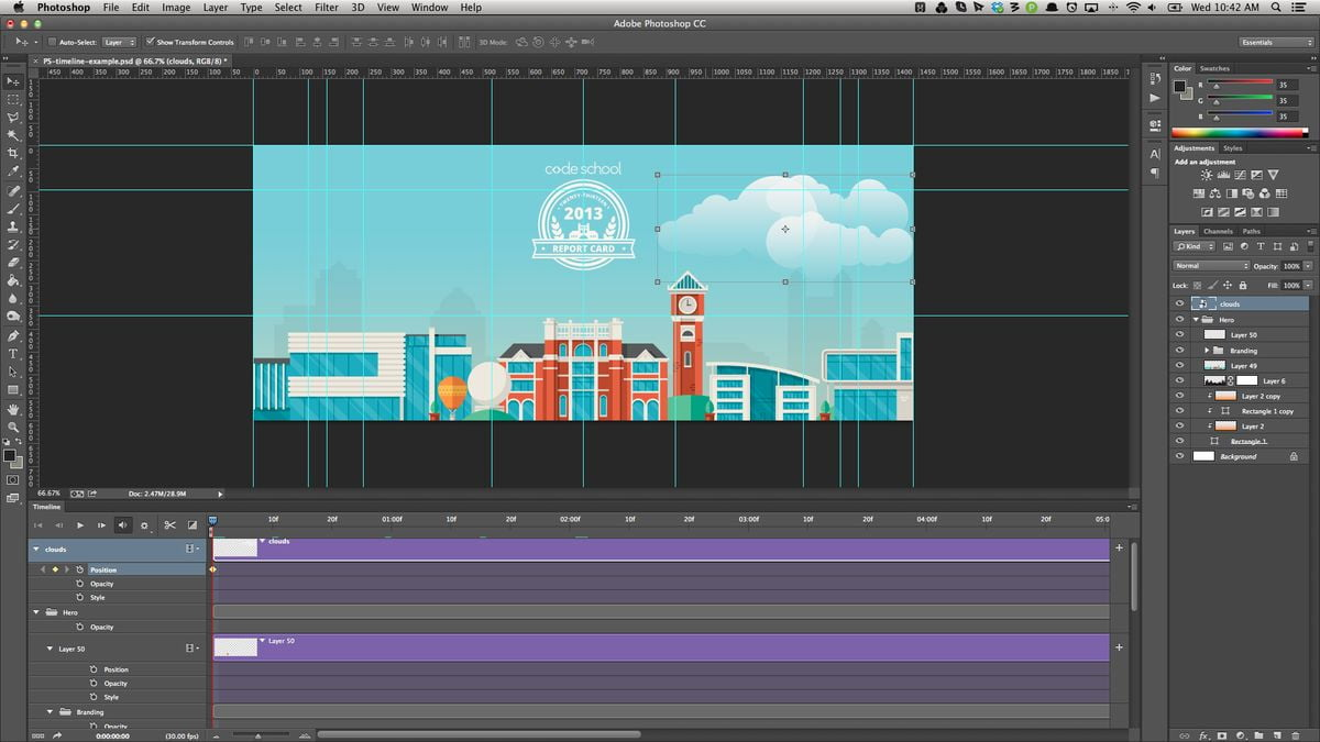 How to make an animated GIF with Adobe Photoshop?