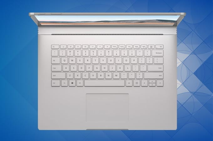 Microsoft Surface Book 3 keyboard and touchpad