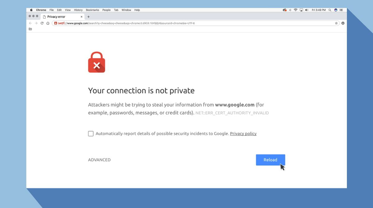 What does your connection is not private mean when browsing?