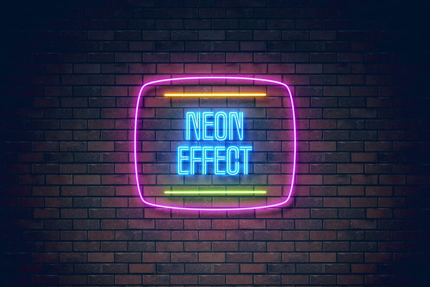 How to make neon light effect in photoshop