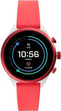 Buy Fossil Womens Gen 4 Sport Heart Rate Metal and Silicone Touchscreen Smartwatch Color Coral Red FTW6027