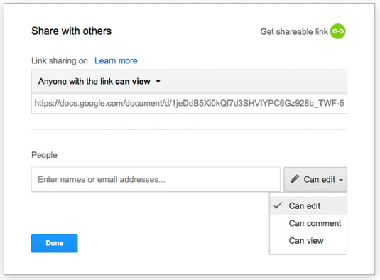 How to share files and folders with others on Google Drive?