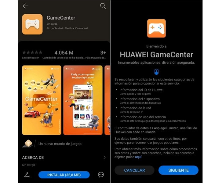 Huawei challenges Google again with its gaming hub GameCenter: What is it, how to download and the exclusive games