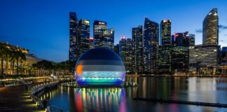 Apple will open a floating store in Singapore