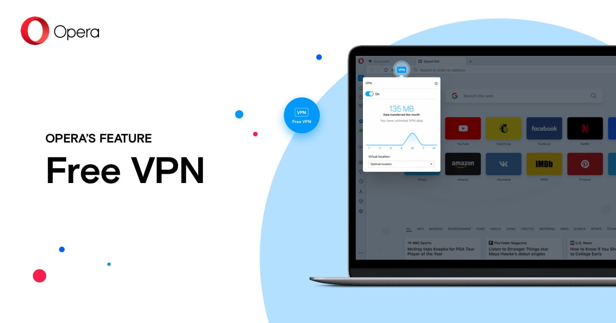 How to use Opera's free built-in VPN?