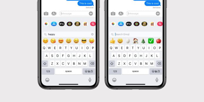 How to use the iPhone search emoji option? [iOS 14]