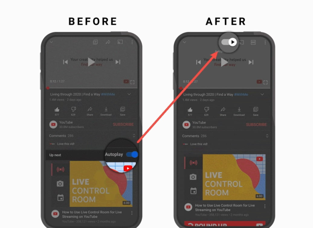 YouTube brings changes with a new update