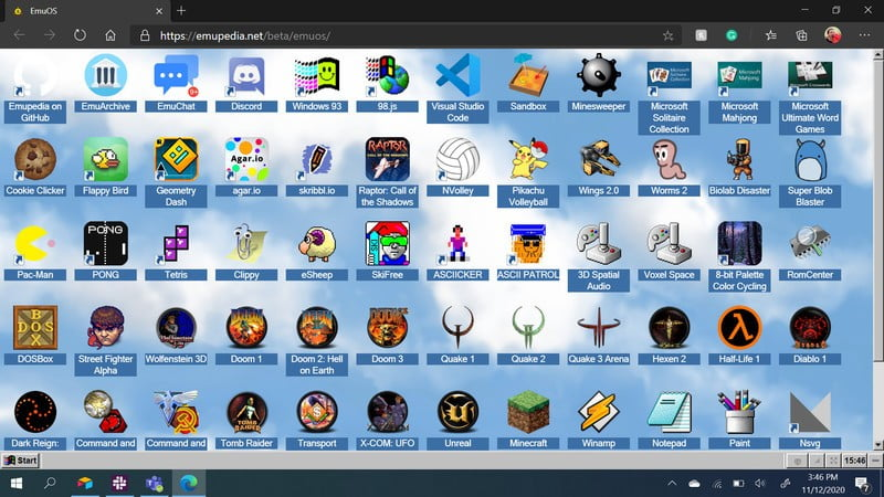 EmuOS enables you to play the classic games on a browser for free.
