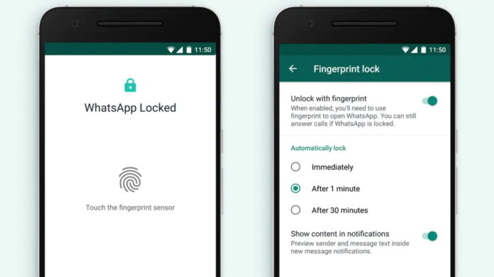 How to lock WhatsApp chats with your fingerprint?