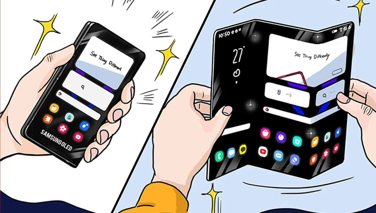 Samsung shows a new format for its future foldable phones