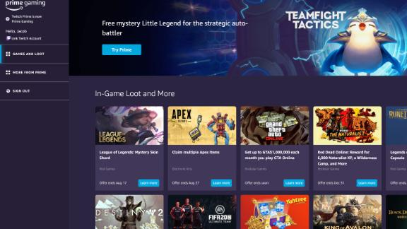 How to get free loots from Amazon's Prime Gaming?