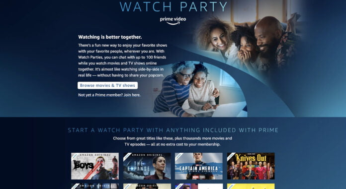 Watch Party feature is introduced for Amazon Prime Video