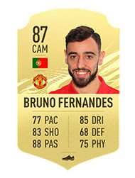 FIFA 21 The 10 best Passers Averages and ratings Bruno Fernandes