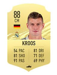 FIFA 21 The 10 best Passers Averages and ratings Kroos