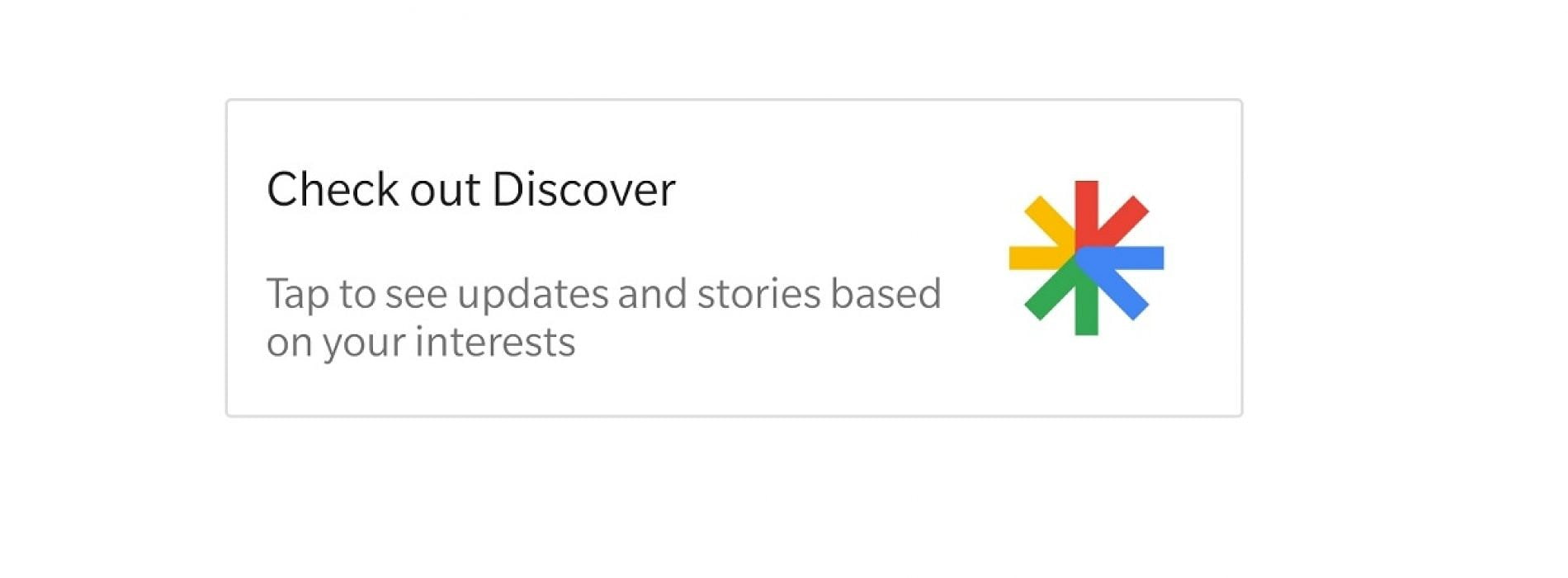 How to activate or deactivate Google Discover on Android?