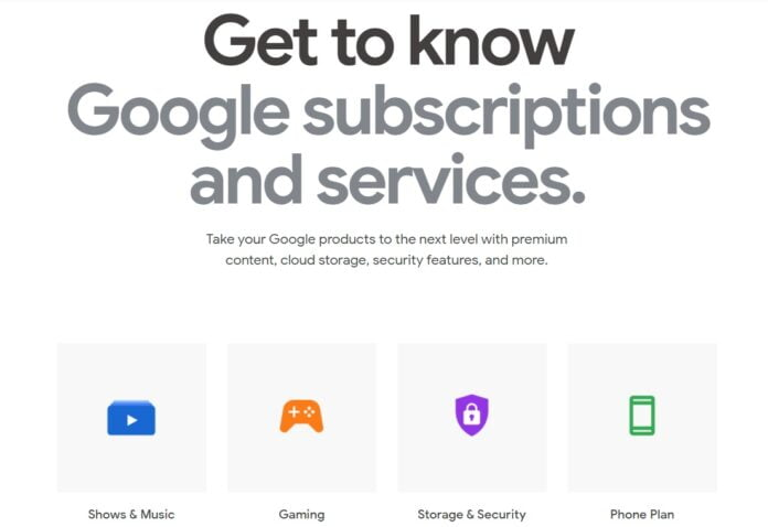 Google Store launches Google subscriptions and services