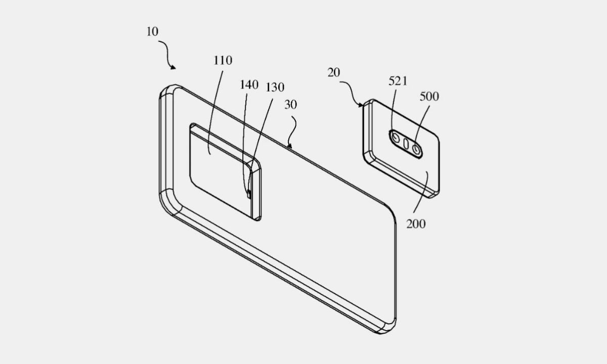 Oppo patents a smartphone with removable camera modules