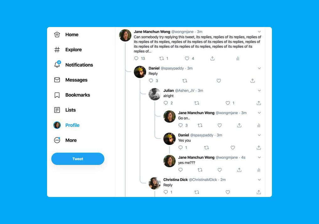 Twitter says goodbye to threaded conversations in tweets