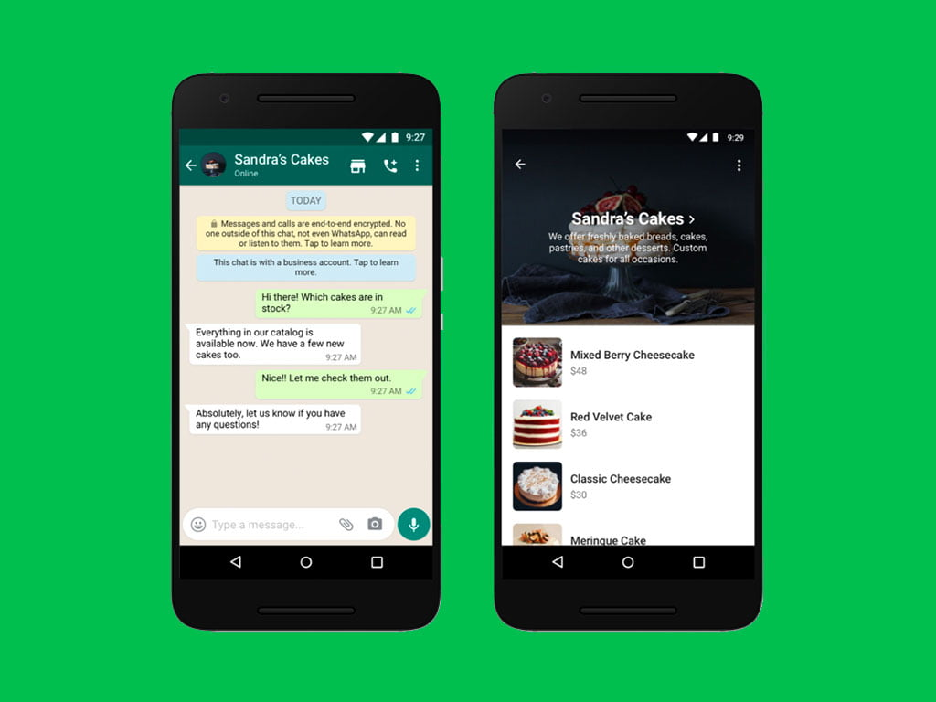 How to use the shopping button on WhatsApp Business?