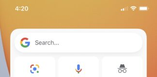 How to use the pinch-to-zoom feature on Google search results?