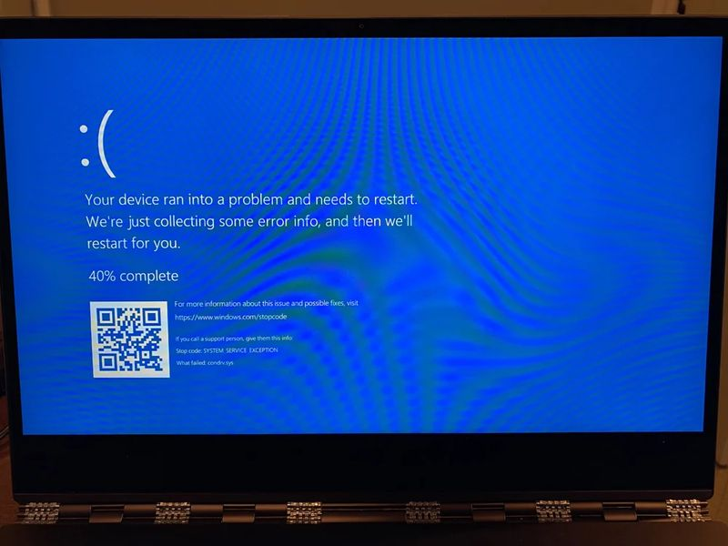 New Windows 10 error causes blue screen with a link