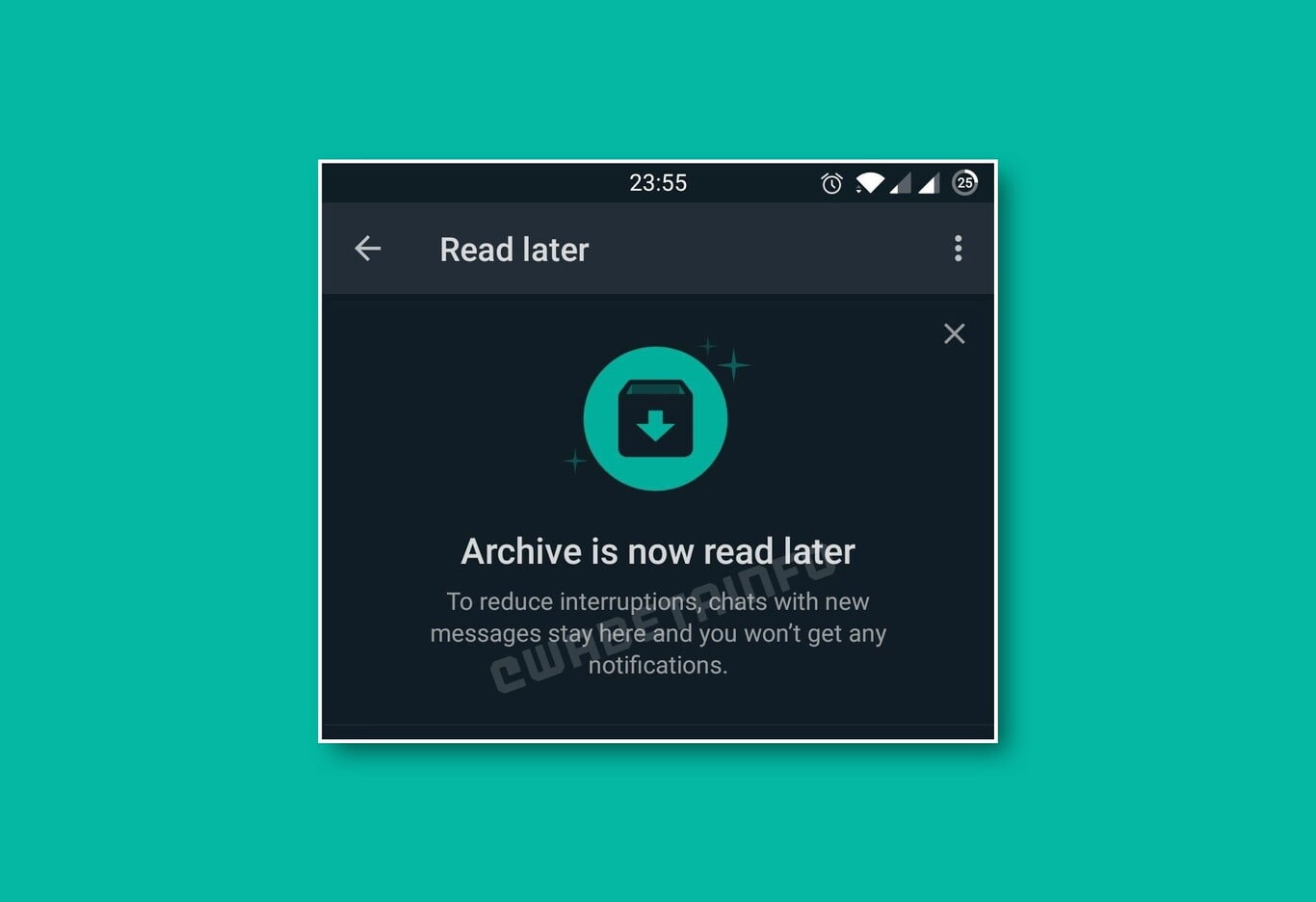 Read Later feature comes to WhatsApp
