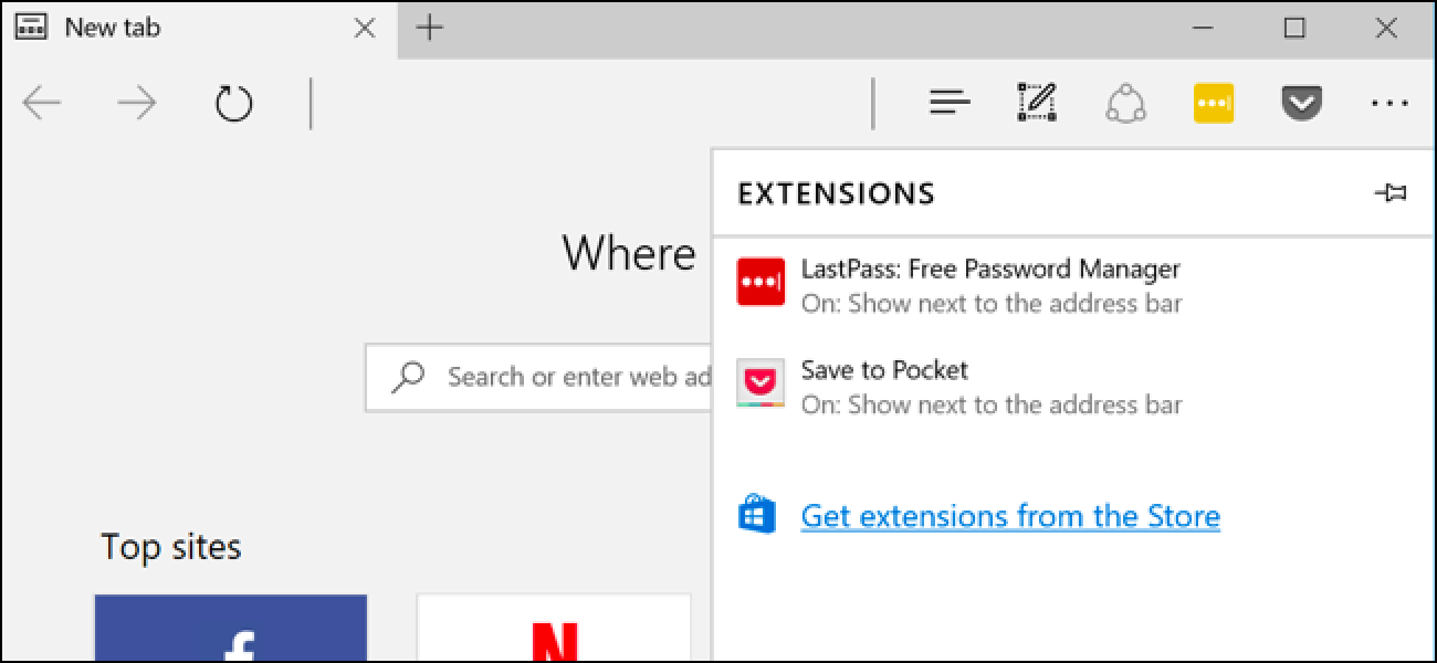 How to install or remove extensions in Microsoft Edge?