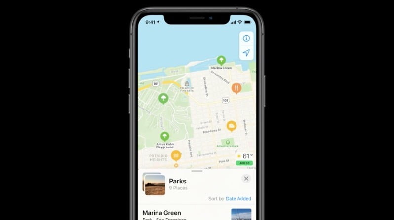 How to find a guide on Apple Maps?