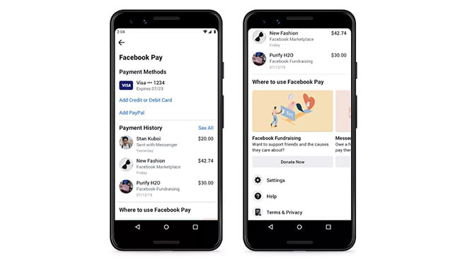 How to add a payment method to Facebook Pay?
