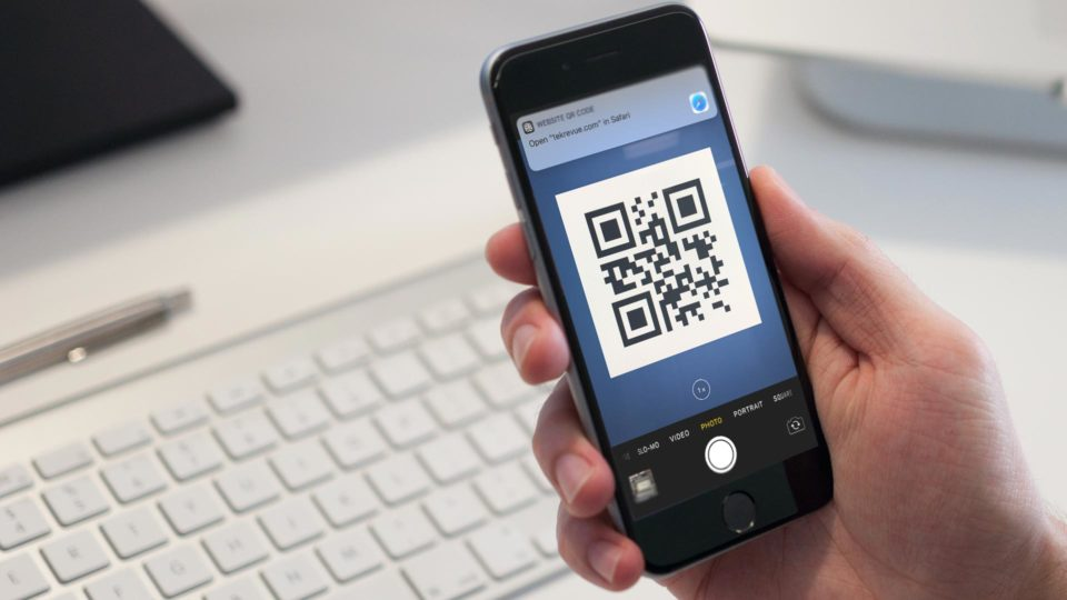 How to create a QR code on iOS without apps?