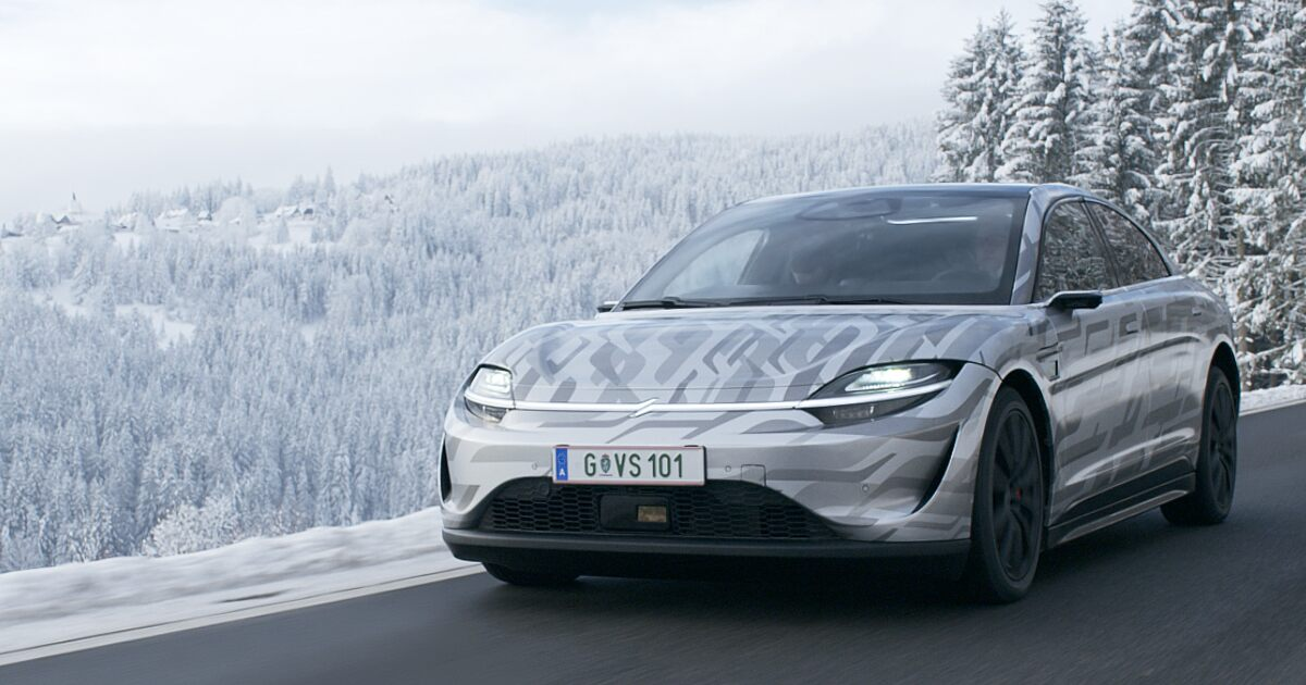 Sony revealed VISION-S electric car with a road testing video at CES 2021