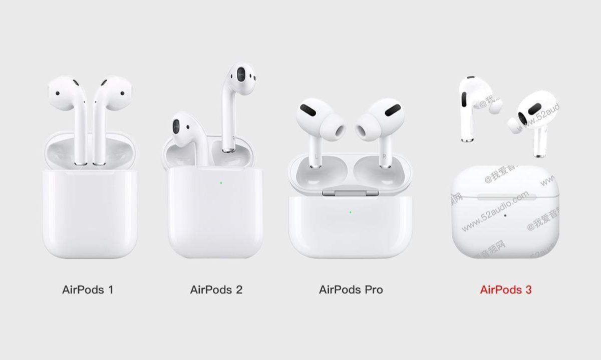 AirPods 3 hint at a design very similar to the AirPods Pro
