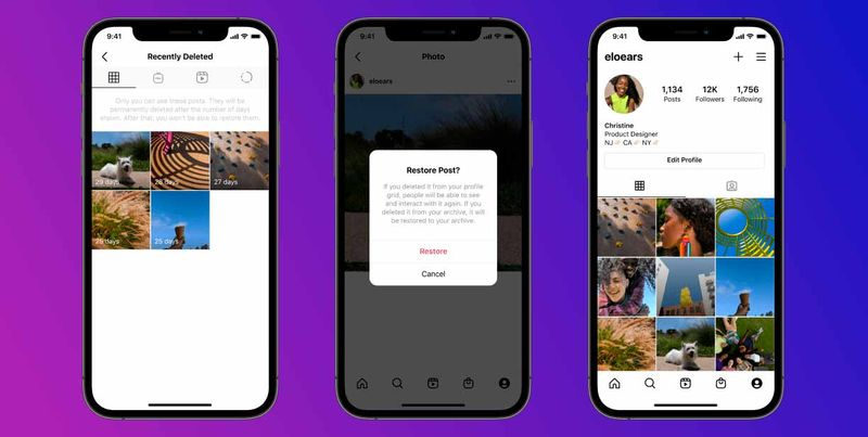 Instagram will allow recovering recently deleted posts