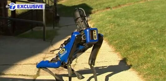NYPD shows off its robot dog in action
