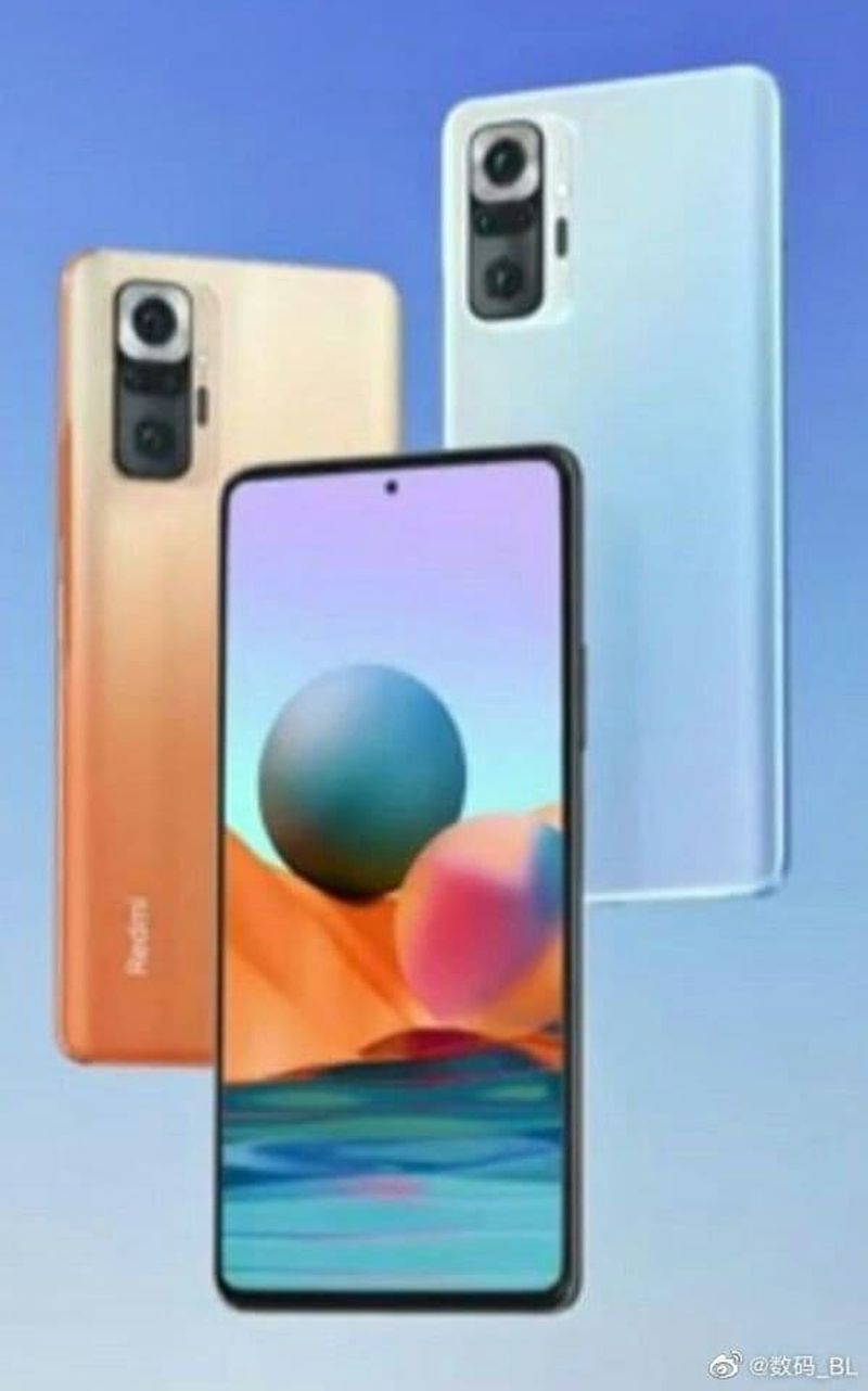 The Xiaomi Redmi Note 10 leaks and shows its strange camera