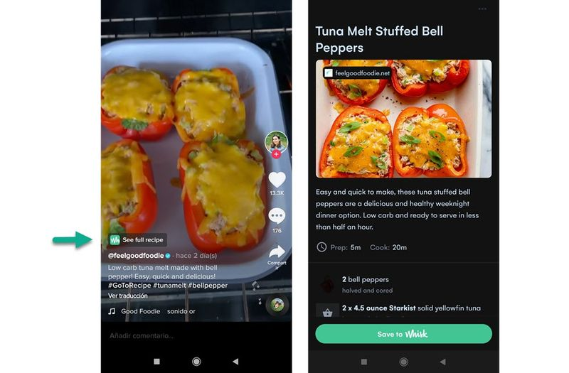 TikTok tests a new feature for recipe videos