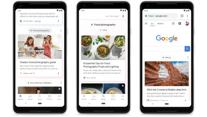 Google is testing hashtags in Discover news feed