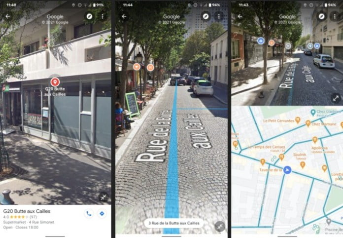 How to use split screen on Google Maps?