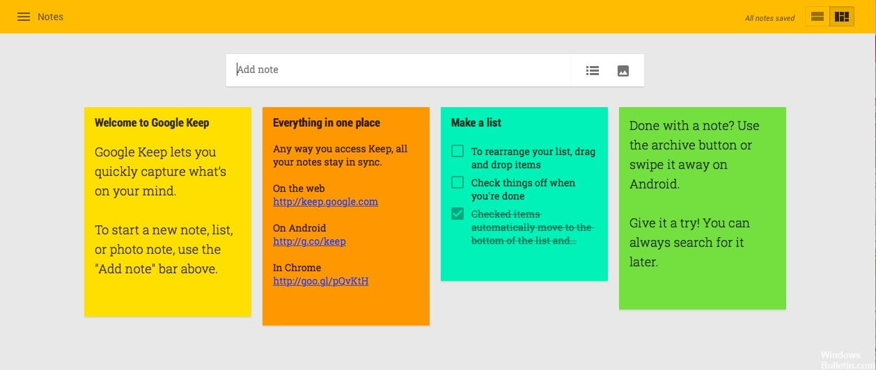 How to backup all Google Keep notes?