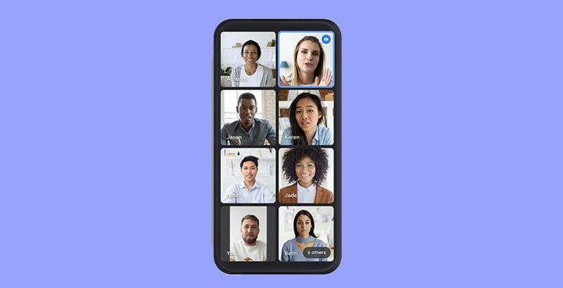Google Meet has a new view for mobile video calls