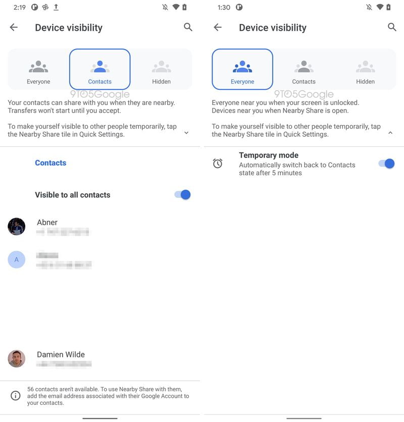 Google Nearby Share will allow you to send files to multiple people at once, and anyone nearby