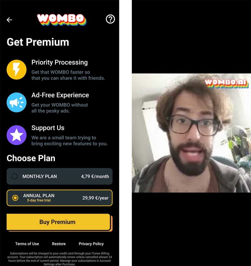 How to download and use Wombo.ai app?