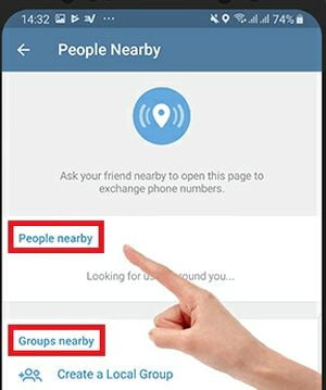 How to use People Nearby feature of Telegram?