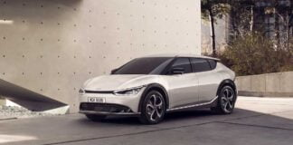 Kia shows the design of its EV6 automobile